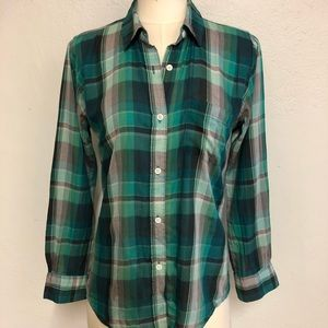 Rails Green Plaid Shirt, S